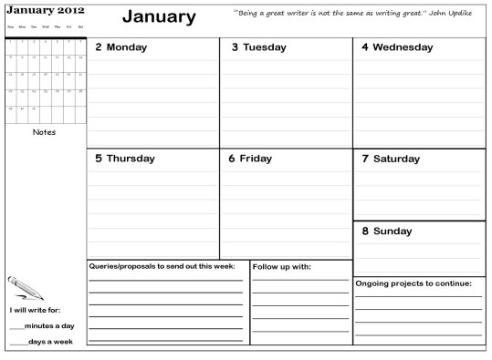 Writing planner